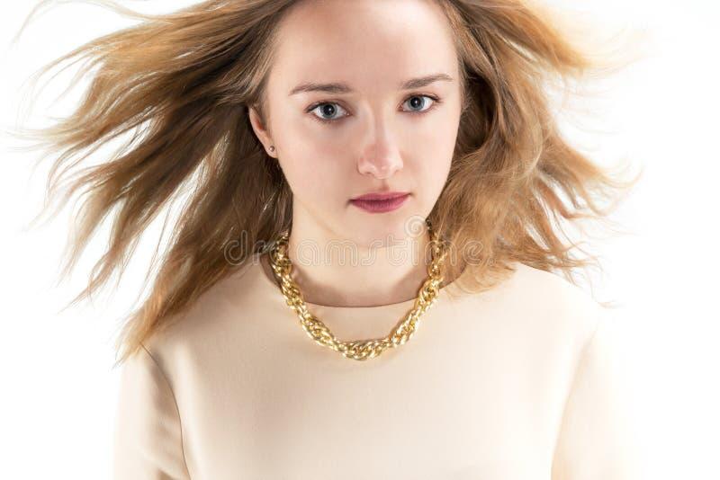 白肤金发的女孩头发 库存图片
