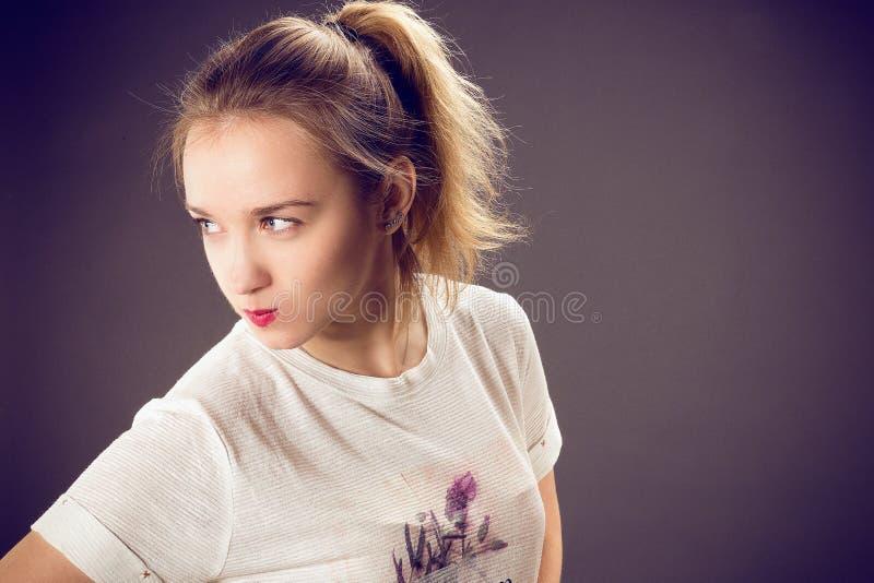 白肤金发的女孩头发 库存照片