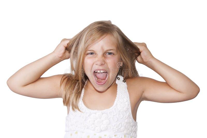 白肤金发的女孩画象  免版税库存照片