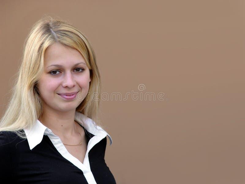 白肤金发的女孩 图库摄影