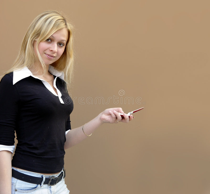 白肤金发的女孩 库存照片