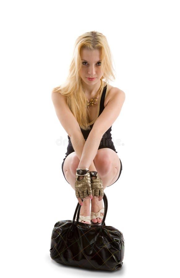 白肤金发的女孩 免版税库存图片