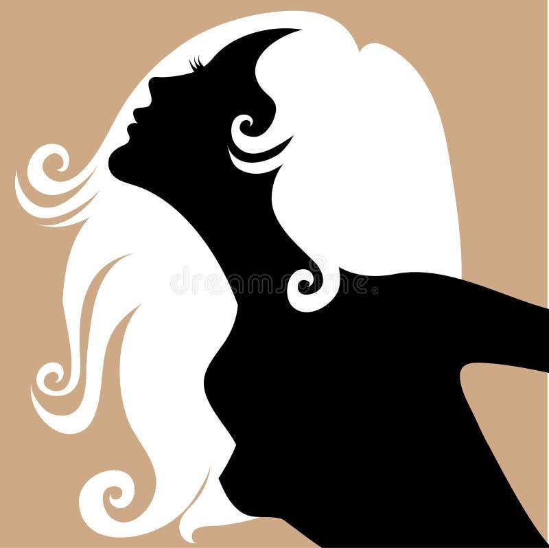 白肤金发的女孩 皇族释放例证