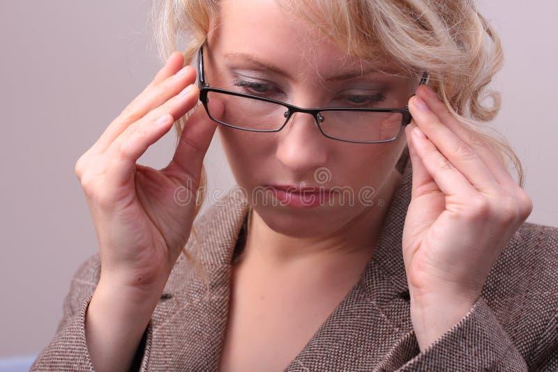 白肤金发的女实业家 免版税图库摄影