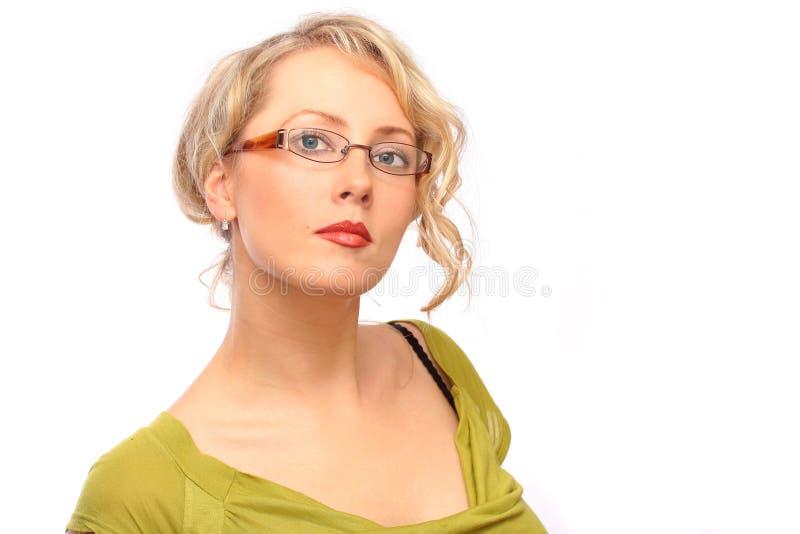 白肤金发的女实业家 库存图片
