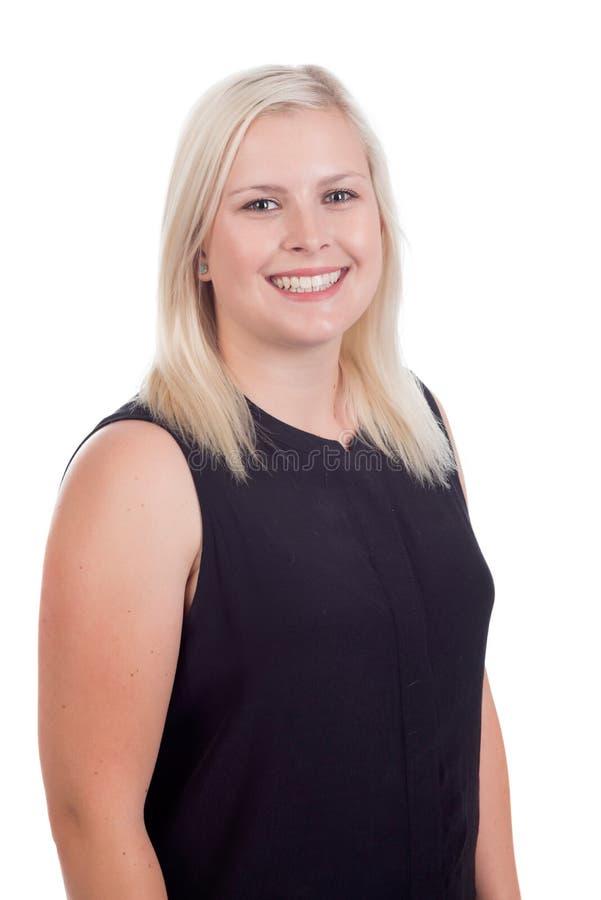 年轻白肤金发的女性关闭 免版税图库摄影