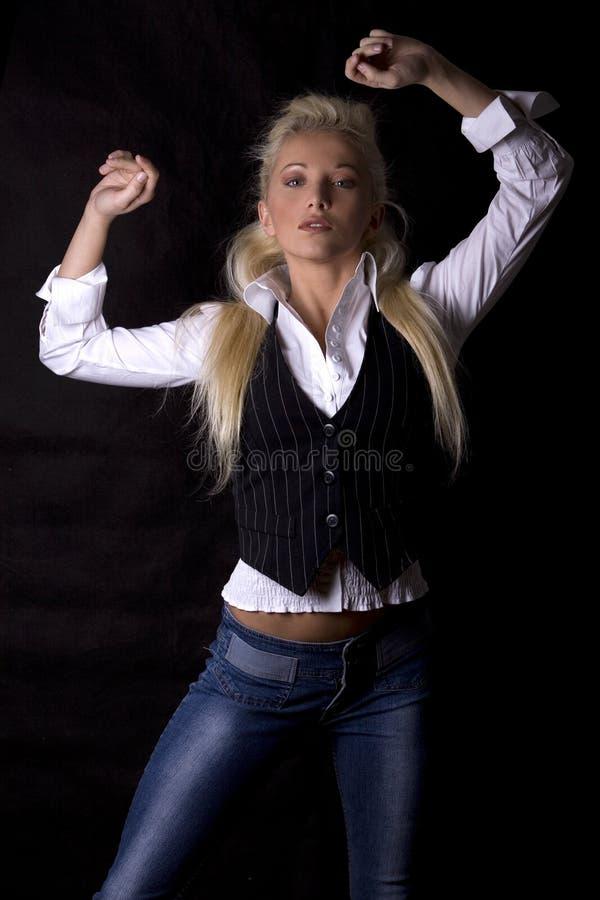 白肤金发的妇女 免版税图库摄影