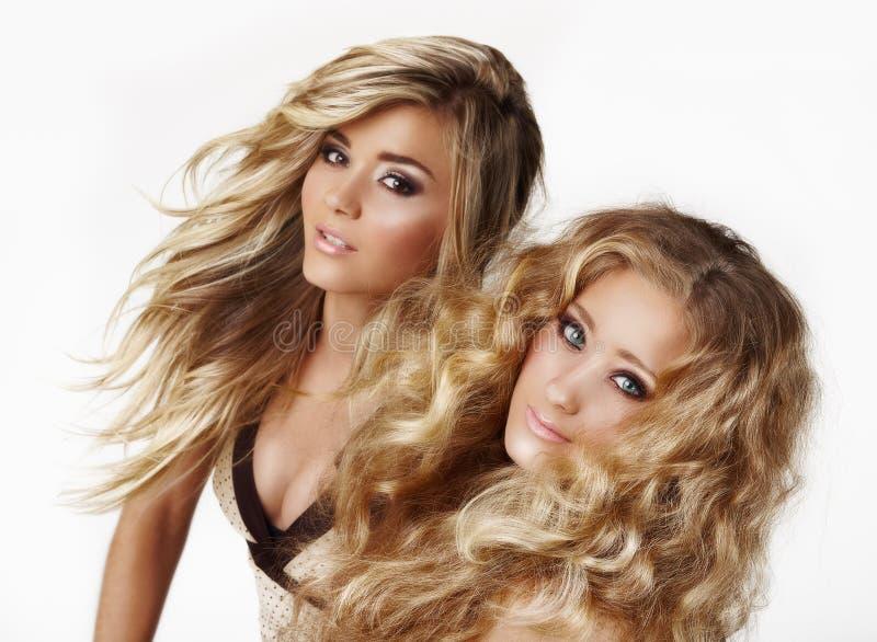 白肤金发的姐妹 免版税库存图片