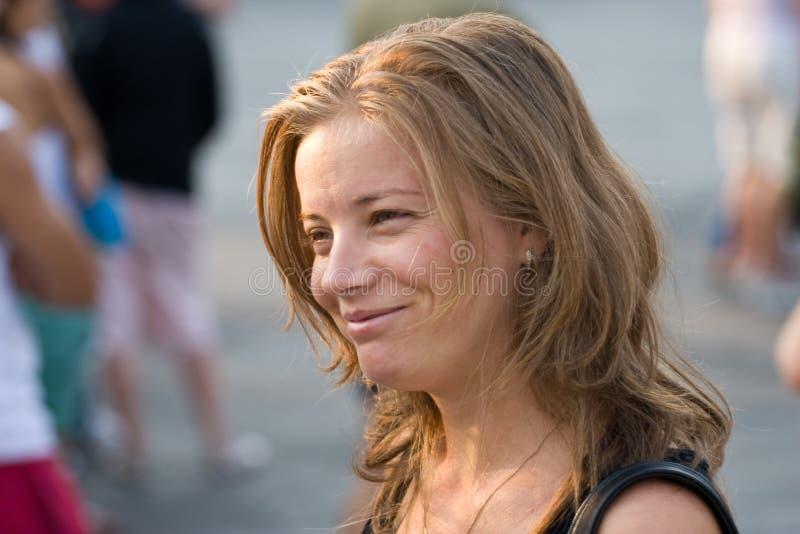 白肤金发的微笑 库存照片