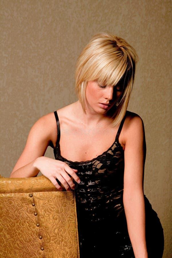 白肤金发的性感的妇女 图库摄影