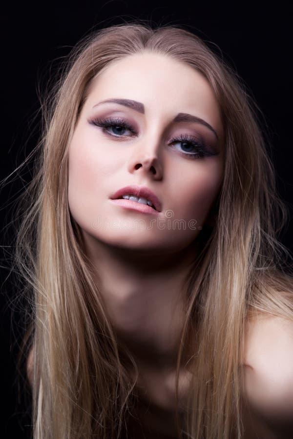 白肤金发的性感的妇女yong 库存图片