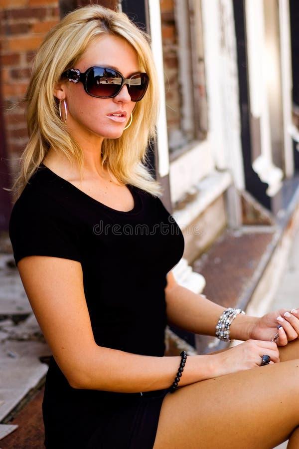 白肤金发的时装模特儿 库存照片