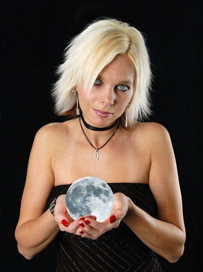 白肤金发的月亮 库存图片
