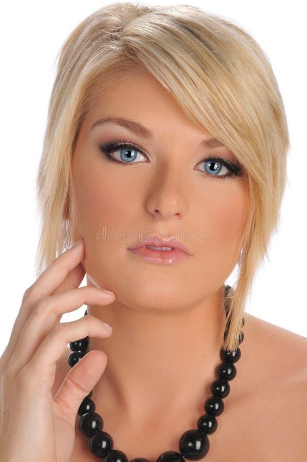 白肤金发的模型年轻人 免版税图库摄影