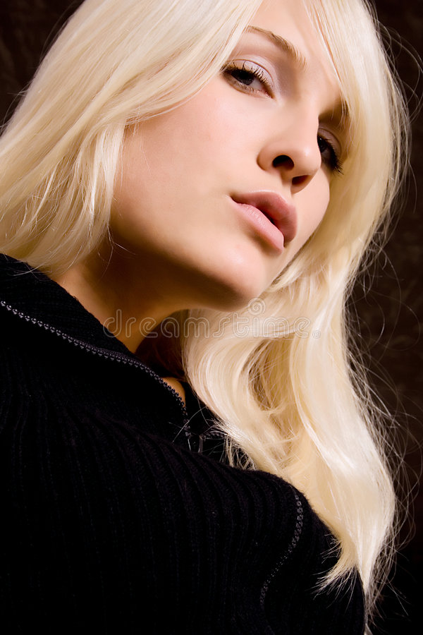 白肤金发的纵向 免版税库存图片