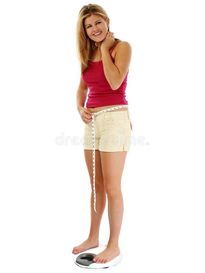 白肤金发的缩放比例妇女 图库摄影