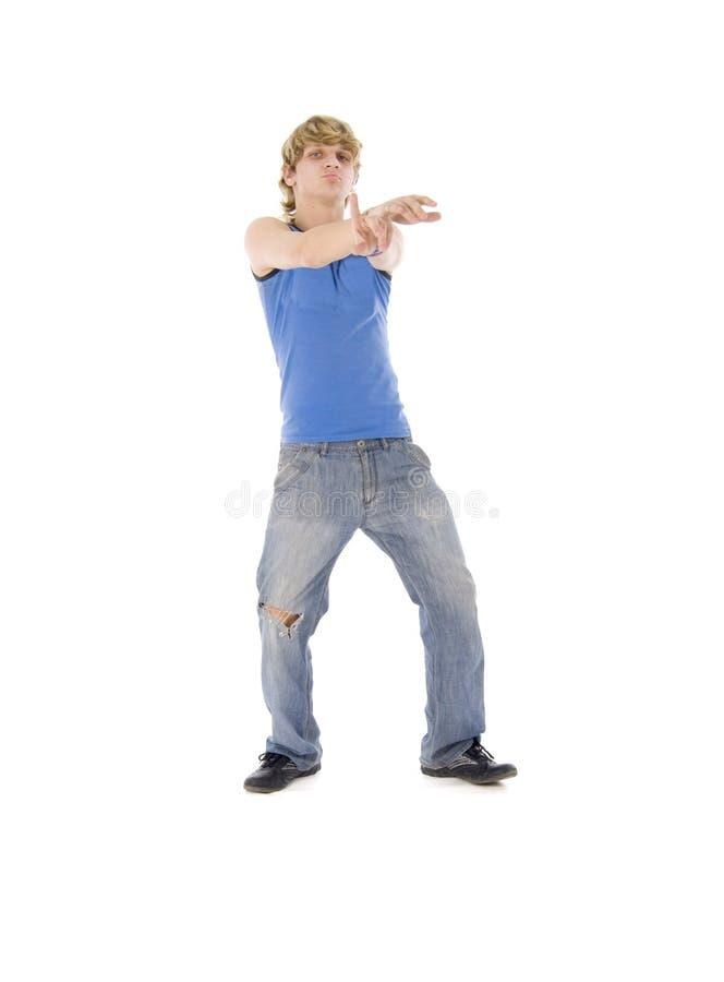 白肤金发的跳舞人 免版税库存图片