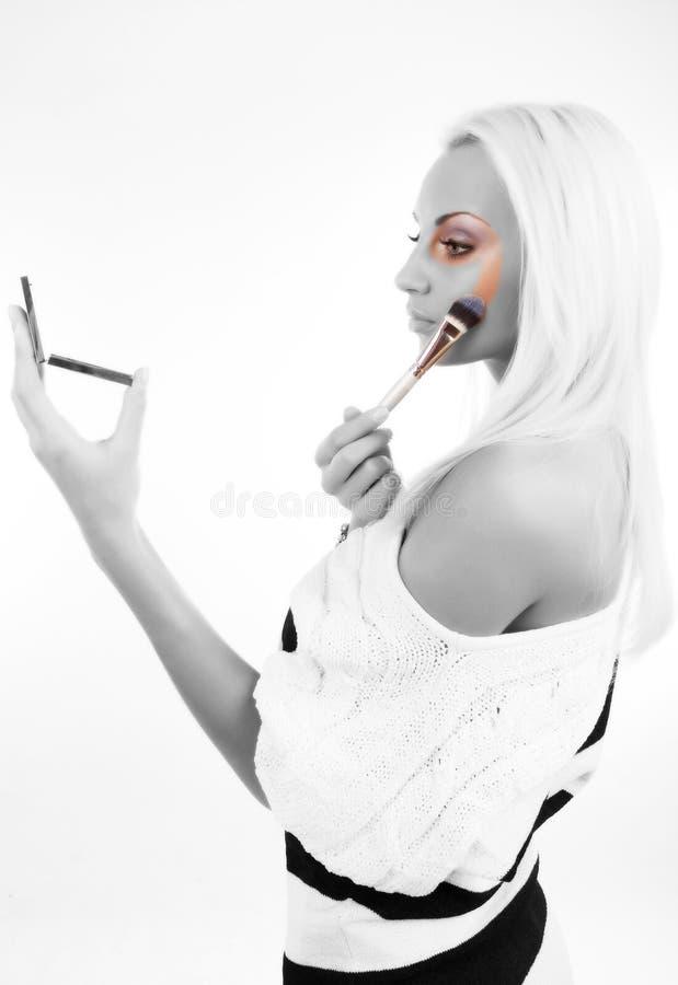 白肤金发的逗人喜爱的执行的构成 库存图片