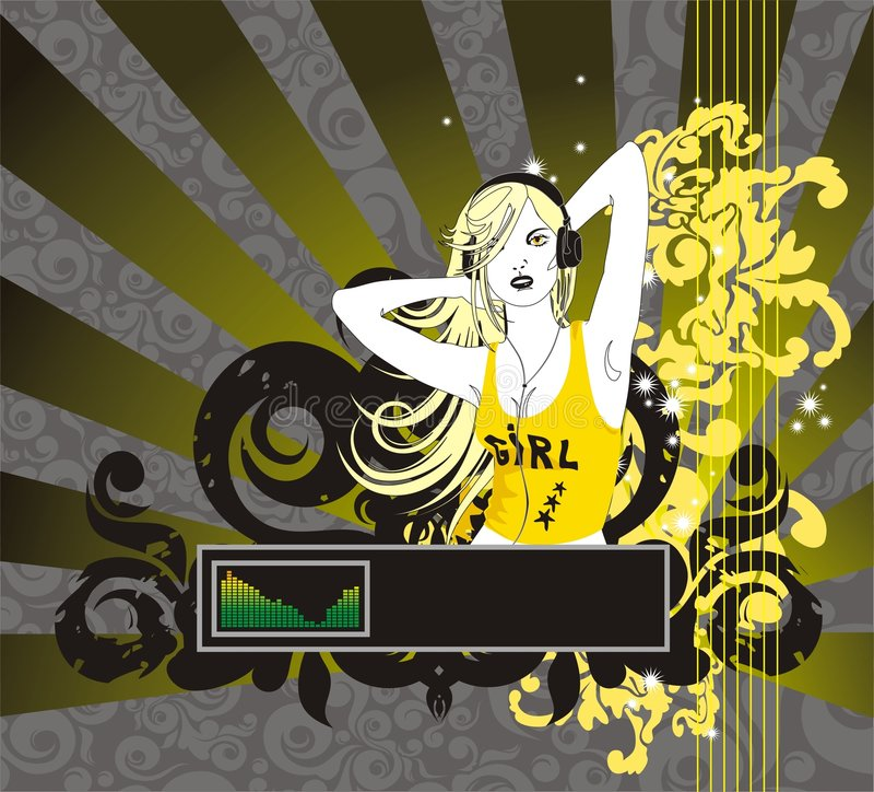 白肤金发的题头给妇女打电话 向量例证