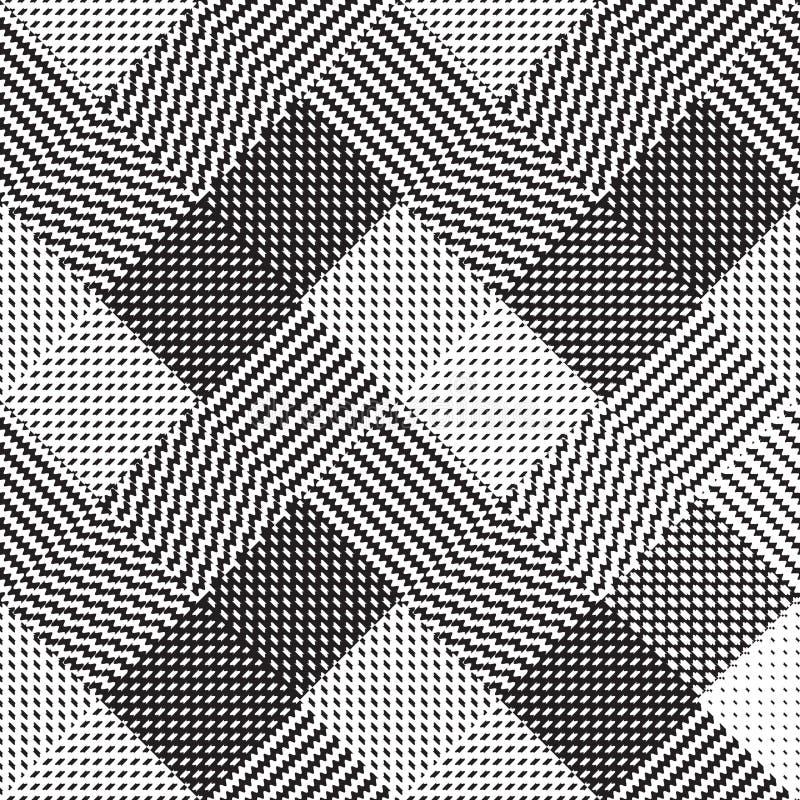 黑白背景,布料传染媒介样式 免版税图库摄影