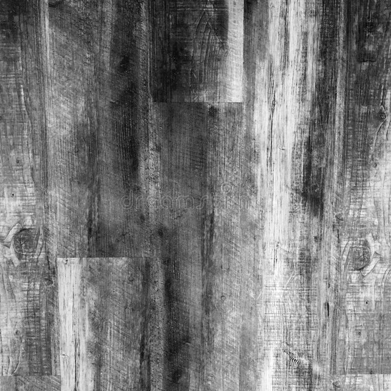 黑白脏的困厄的木五谷纹理 免版税库存照片