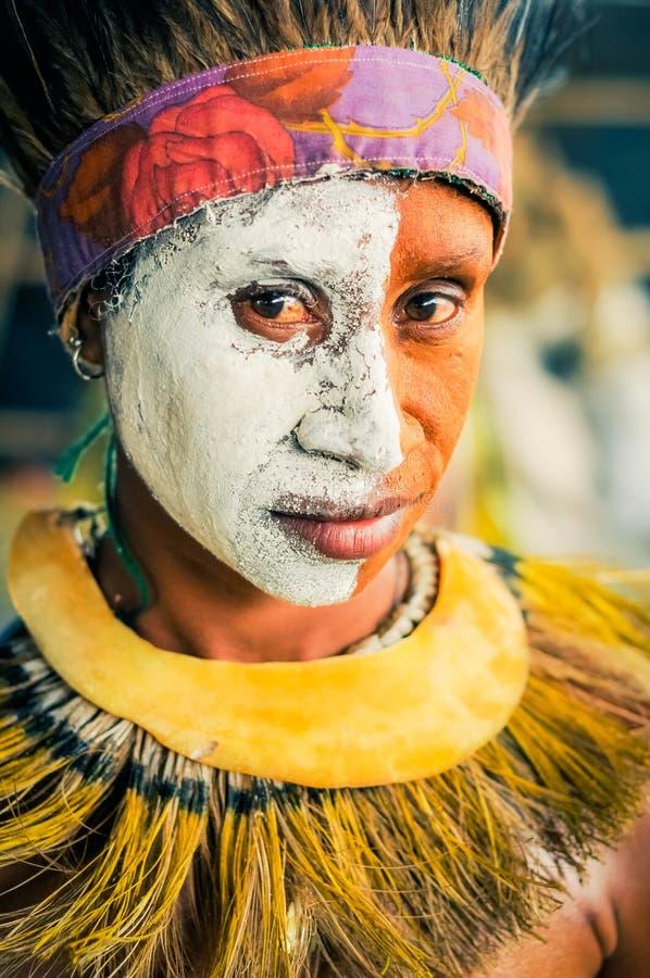 白色一半在巴布亚新几内亚 免版税库存图片