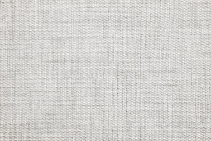 白色上色了无缝的亚麻制纹理或织品帆布背景 免版税图库摄影