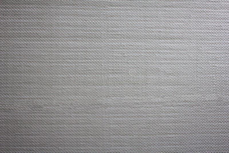 白色与阴影特写镜头的帆布机织织物 E 免版税库存照片