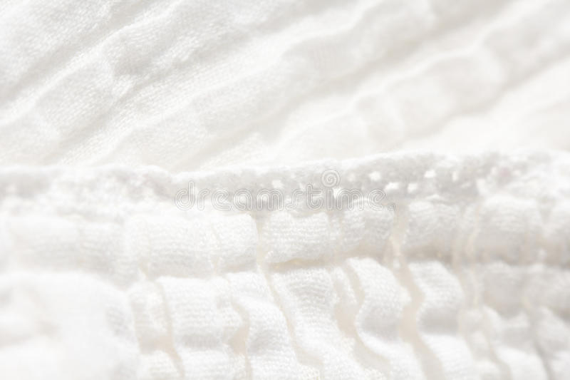 白色与fi的浅深度的棉花背景选择聚焦 免版税图库摄影
