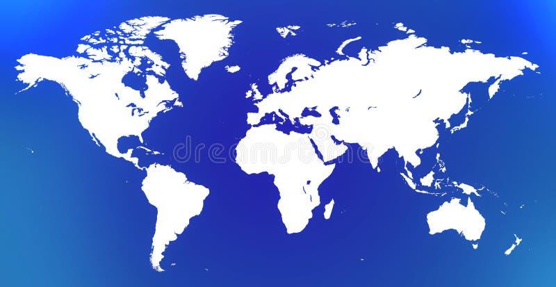 白色世界地图 库存照片