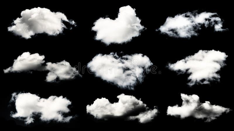白色云彩的汇集 库存照片