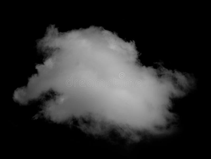 白色云彩被隔绝的黑背景天空 库存图片