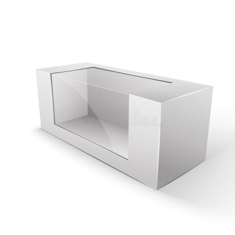 白色产品包裹箱子 库存例证
