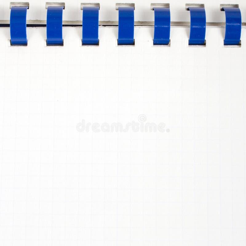 白色作业簿背景, 免版税库存照片