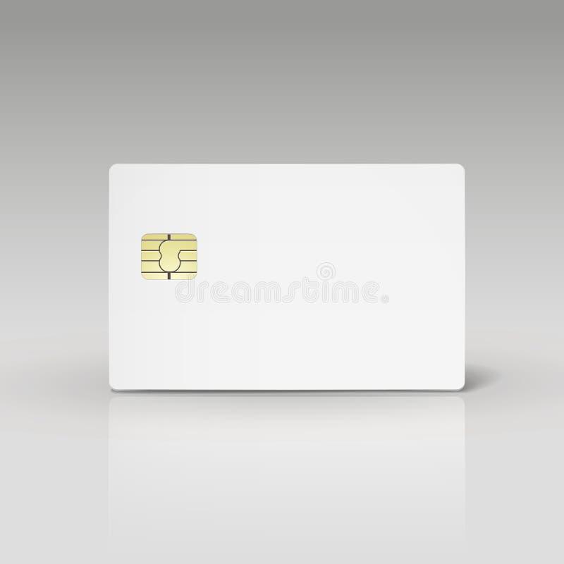 白色信用卡或电话卡片 皇族释放例证