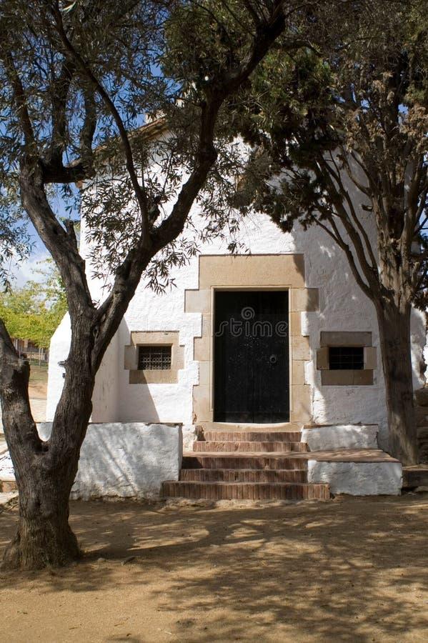 白色偏僻寺院s xvii 免版税库存照片