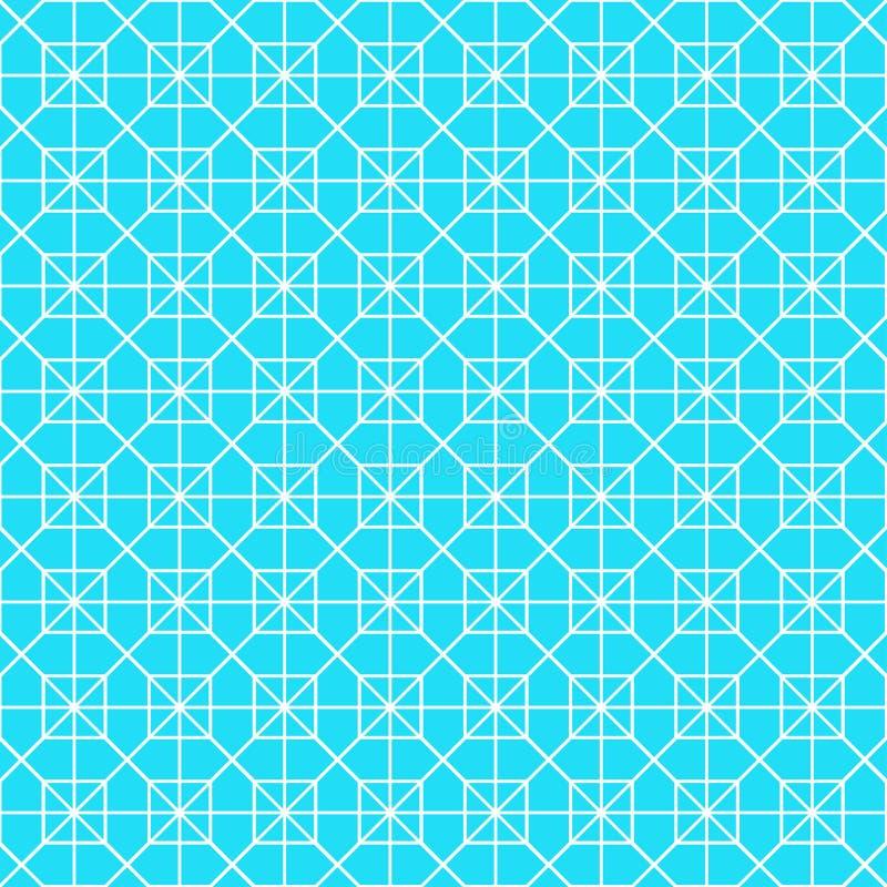 白色八角形物形状样式背景 库存例证