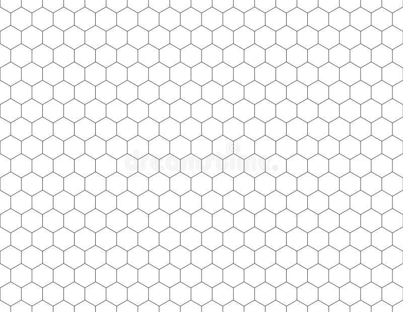 白色六角形形状样式背景 简单的无缝的滤网 皇族释放例证