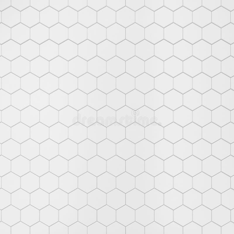 白色六角瓦片 向量例证