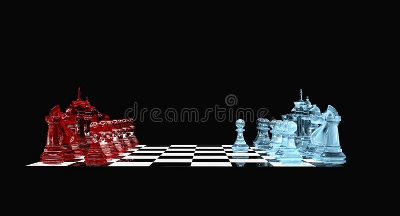 白色典当-棋 皇族释放例证
