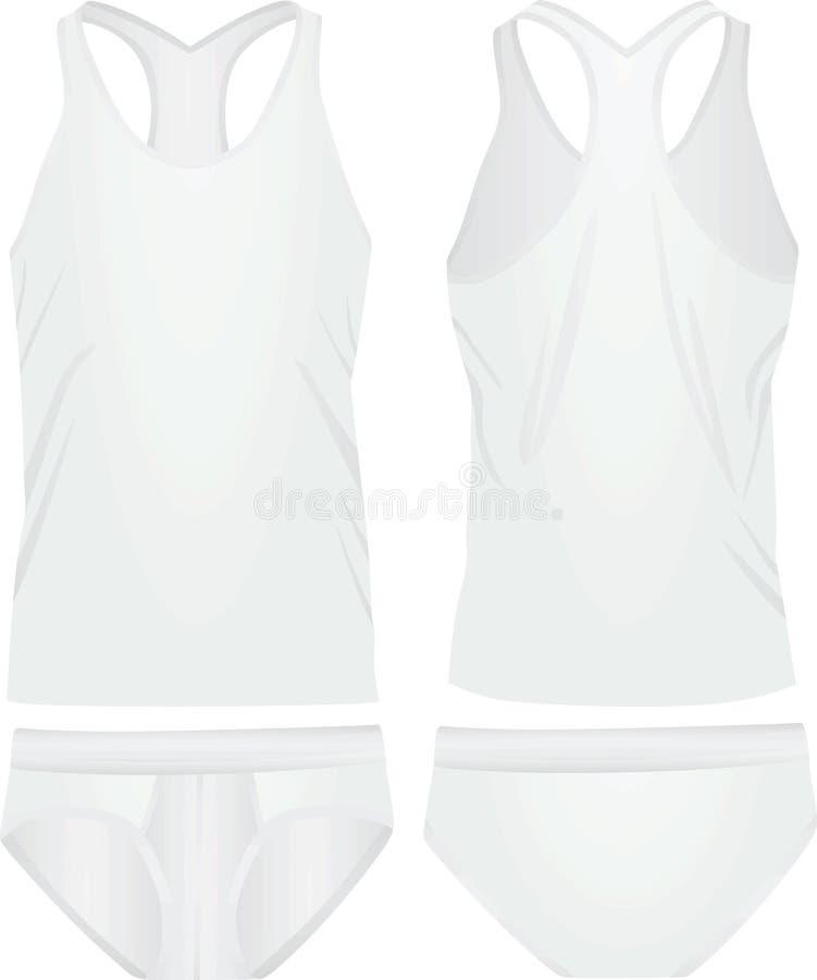 白色内衣集合 向量例证