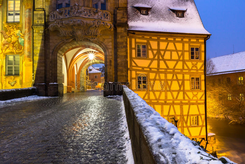 白色冬天琥珀德国巴伐利亚 免版税库存图片