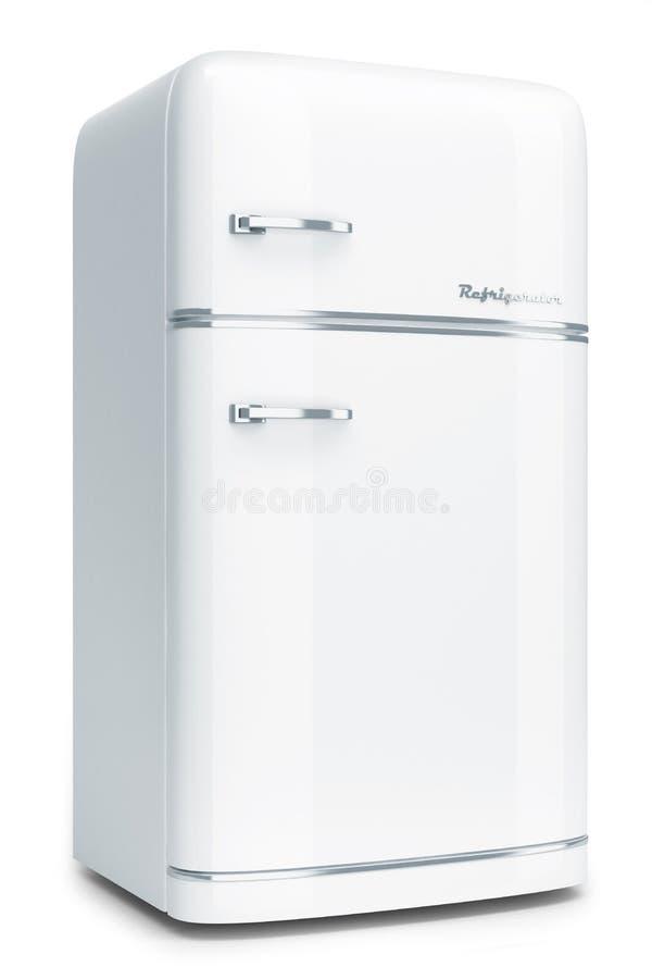 白色减速火箭的冰箱 库存例证