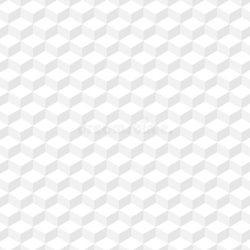 白色几何纹理 背景无缝的向量 也corel凹道例证向量 EPS10 皇族释放例证
