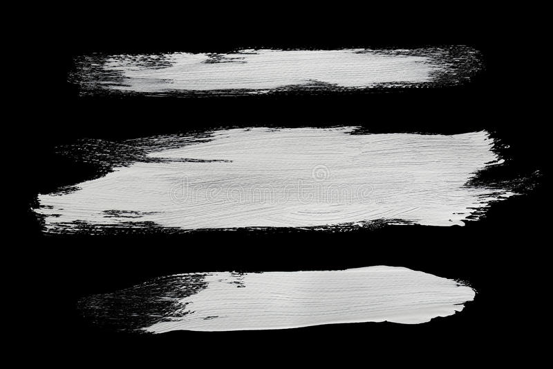 白色刷子冲程 库存图片