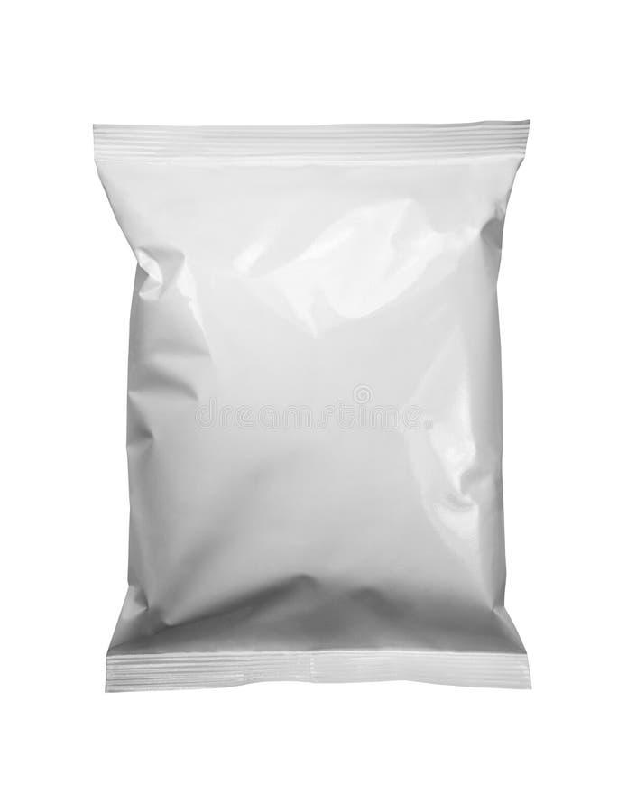白色包裹模板 免版税图库摄影