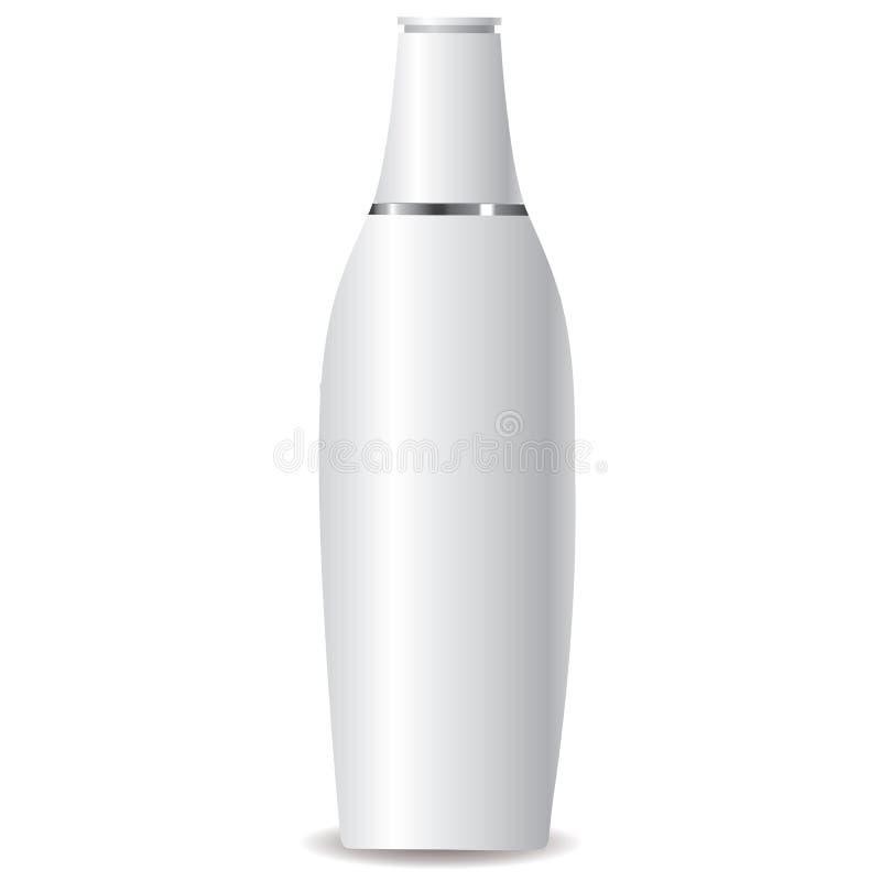 白色化妆水瓶 皇族释放例证