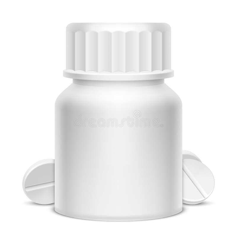 白色医学药瓶 向量例证