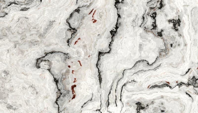 白色卷曲大理石纹理 库存图片
