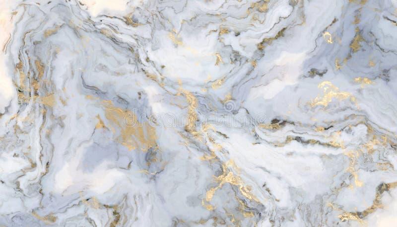 白色卷曲大理石 向量例证